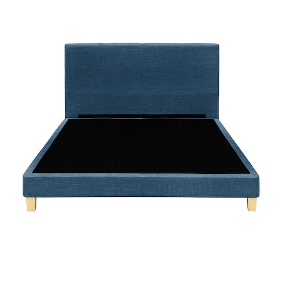 Chen Dynasty - ESSENTIALS Queen Headboard Divan Bed - Denim (Fabric)