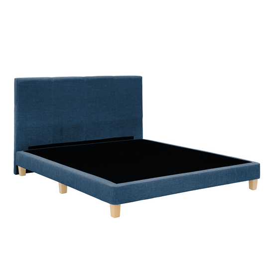 Chen Dynasty - ESSENTIALS Super Single Headboard Divan Bed - Denim (Fabric)