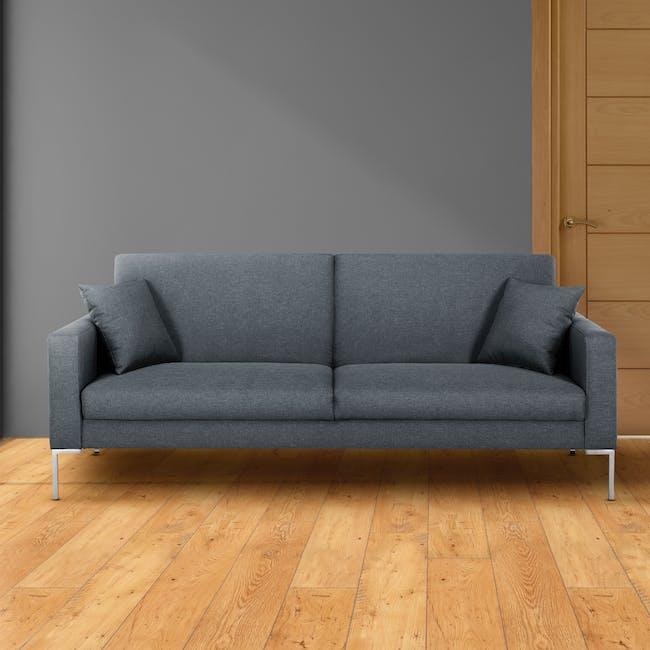 Leslie Sofa Bed - Hailstorm (Fabric) - 1