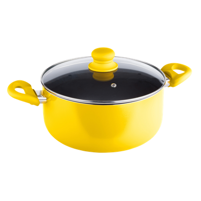 Lamart MULTICOLOR Casserole with Lid 24cm - Yellow - Image 2