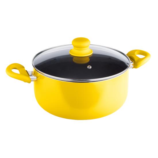 Lamart - Lamart MULTICOLOR Casserole with Lid 24cm - Yellow