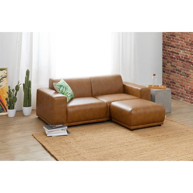 Milan 3 Seater Sofa - Tan (Faux Leather) - 1