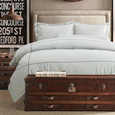 (King) Hotelier Prestigio™ 6-pc Bedding Set - Cliff Grey Base Black Embroidery - Image 2