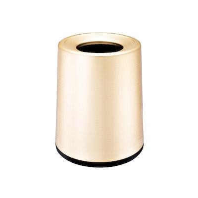Matte Open-Top Trash Bin - Champagne Gold - Image 1