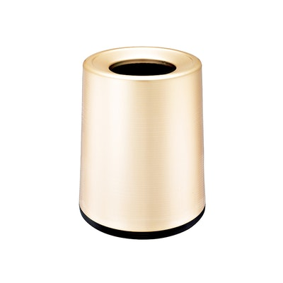 Matte Open-Top Trash Bin - Champagne Gold