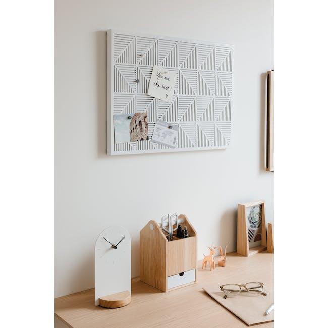Trigon Metal Bulletin Board - White - 12