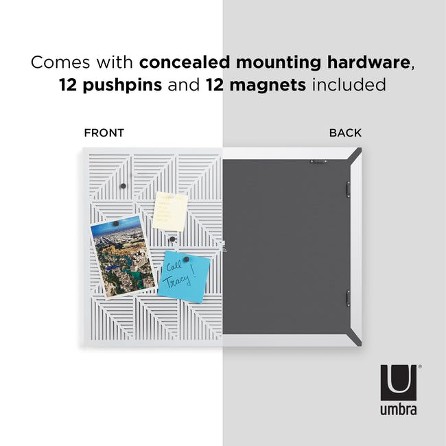 Trigon Metal Bulletin Board - White - 8
