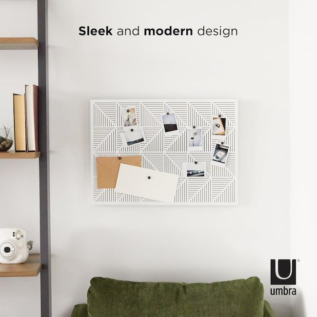 Trigon Metal Bulletin Board - White - 9
