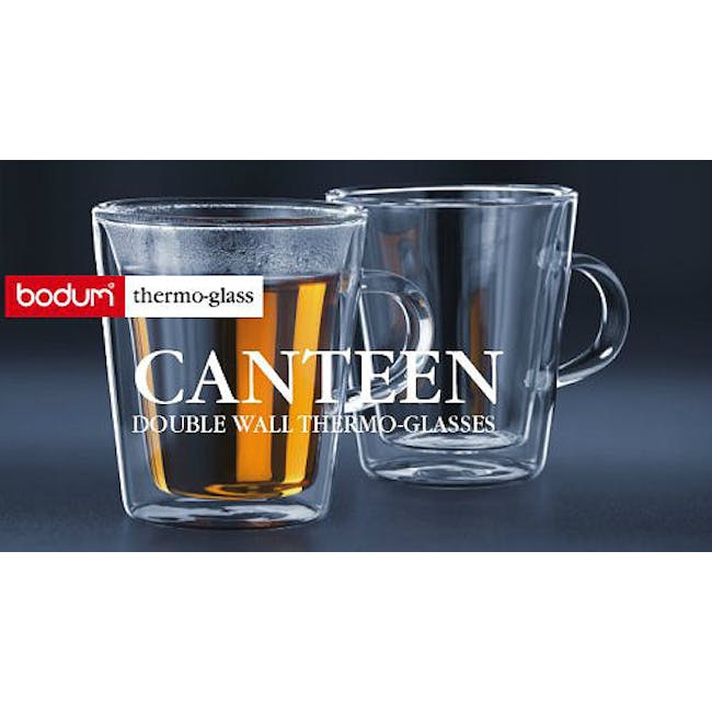 CANTEEN Double Wall Glass with handle 0.2L (Set of 2) - 1