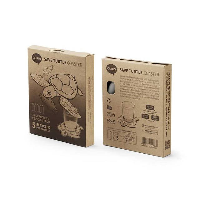 Save Turtle Coaster - Light Grey - 2