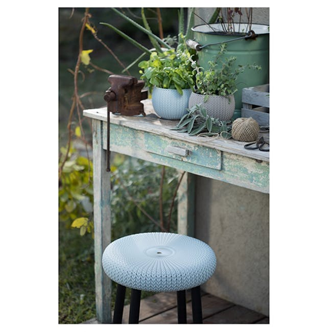 Knit Cozy Outdoor Stool - Violet - 5