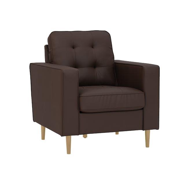 Royce Armchair -  Mocha (Faux Leather) - 1