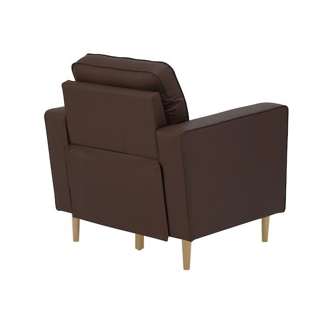 Royce Armchair -  Mocha (Faux Leather) - 3