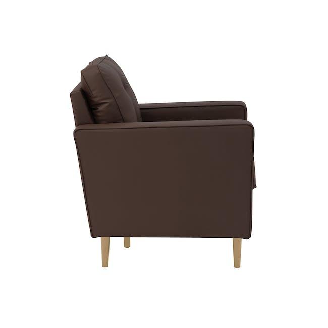 Royce Armchair -  Mocha (Faux Leather) - 2