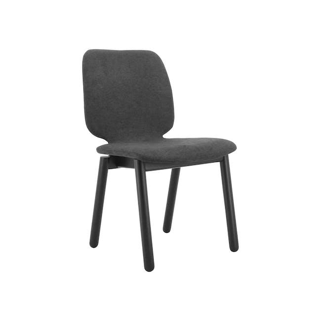 Missie Dining Chair - Black, Dark Grey - 0