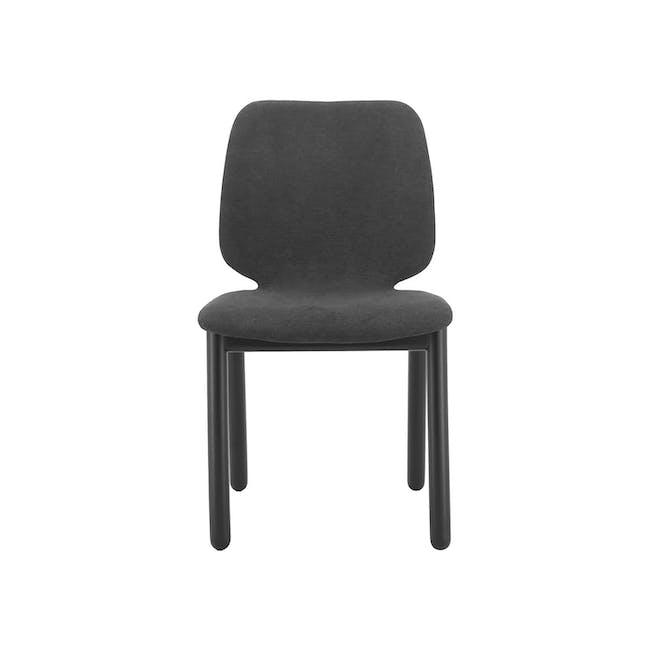 Missie Dining Chair - Black, Dark Grey - 1