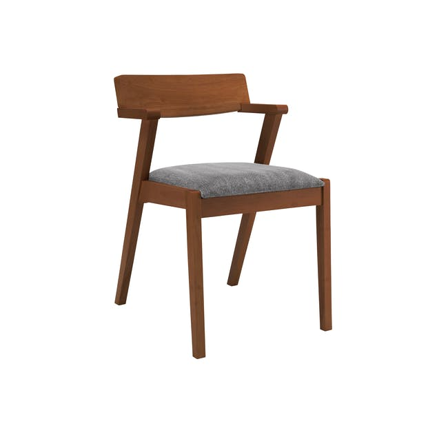 Imogen Dining Chair - Cocoa, Dolphin Grey - 0
