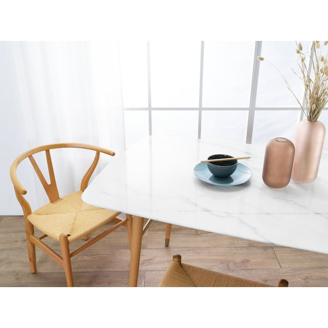(As-is) Hagen Marble Dining Table 1.6m - 1 - 9