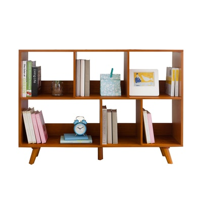 Retro Square Book Cabinet - Image 1