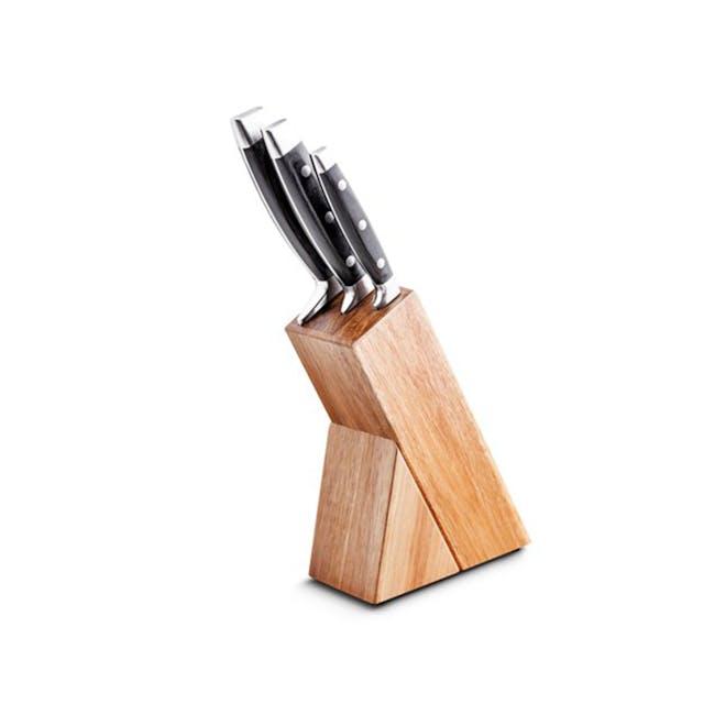 Lamart Damas Knife Set with Wooden Block - 0