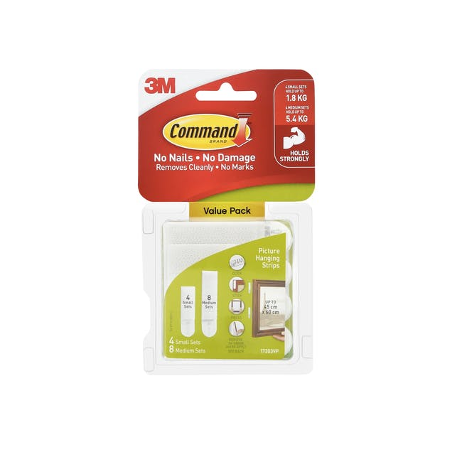 Command™ Picture Hanging Strips Value Packs - White (4 Options) - 2
