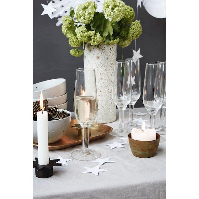 Nouveau Champagne Glass - Clear - 2