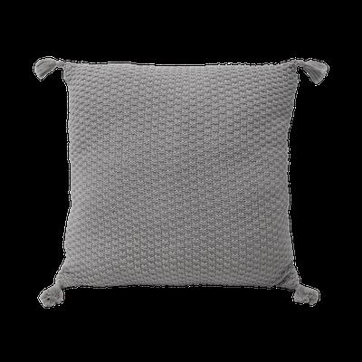 Camila Knitted Cushion - Grey - Image 1