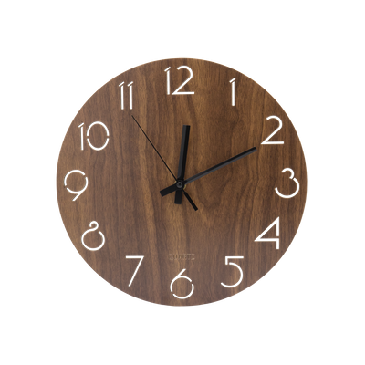 Hunter Wall Clock - Walnut - Image 1