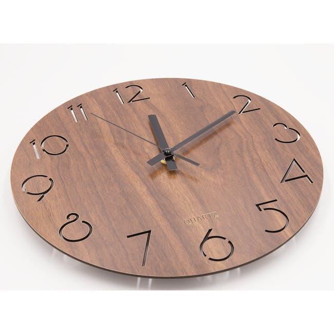 Hunter Wall Clock - Walnut - 2