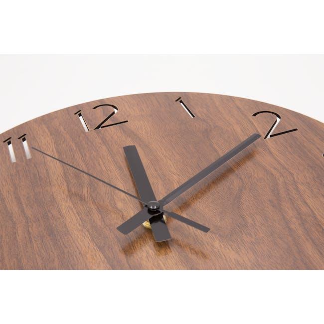 Hunter Wall Clock - Walnut - 1