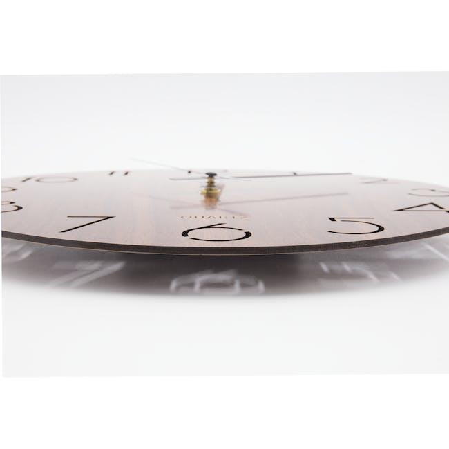 Hunter Wall Clock - Walnut - 4