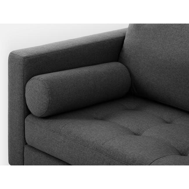 Nolan 3 Seater Sofa - Carbon (Fabric) - 5