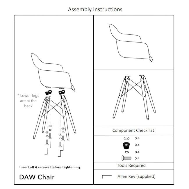 DAW Chair Replica - Natural, Black - 7