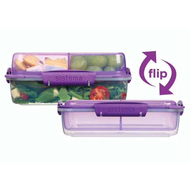 Sistema Lunch Stack To Go Rectangle 1.8L - Blue - 3