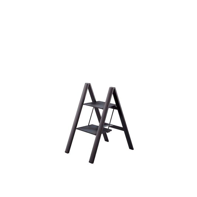 Hasegawa Lucano Slim Aluminium 2 Step Stool - Black - 0