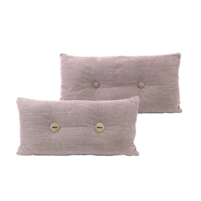 Distintivo Rectangle Cushion - Misty Rose, Down Feathers (Domett Fabric) - Image 2