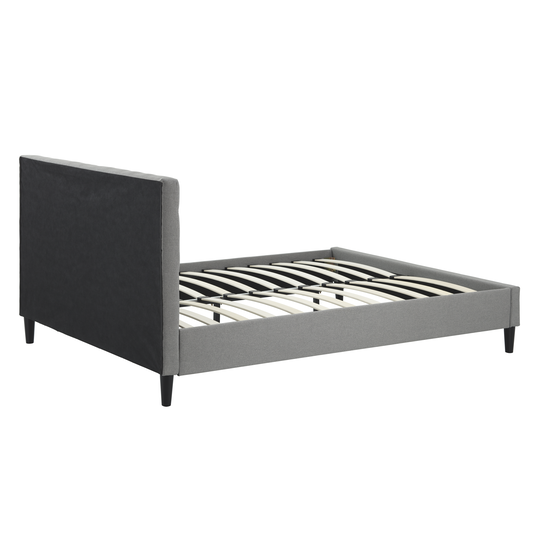 Beds - MLM - Lennon Queen Bed - Grey (Fabric)