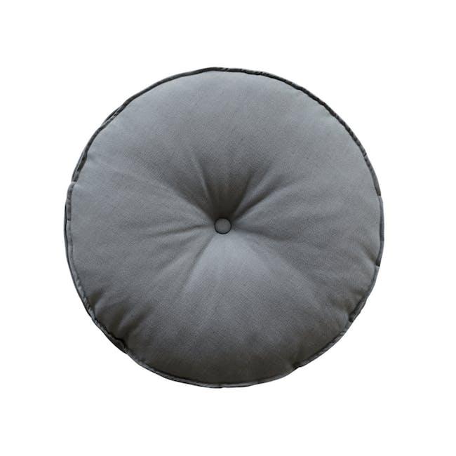 Hanya Round Floor Seat Cushion 60 cm - Grey - 0