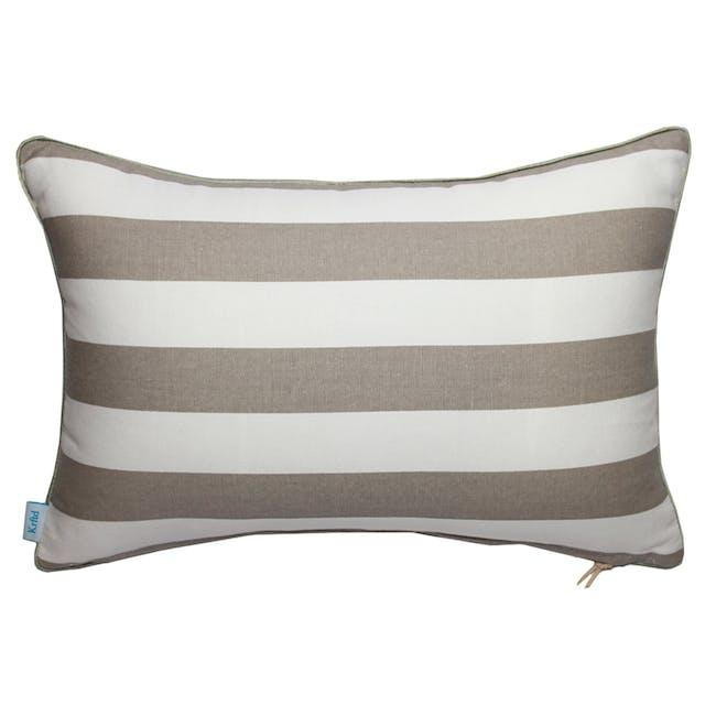 Coral Rectangle Cushion - Ecru - 1
