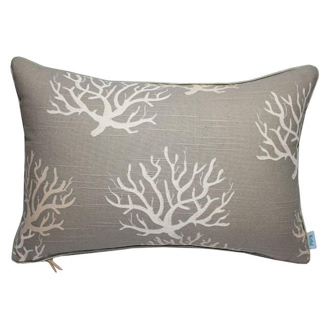 Coral Rectangle Cushion - Ecru - 0