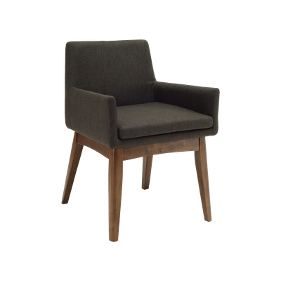 Fabian Dining Chair with Armrests - Cocoa, Mud - Image 1