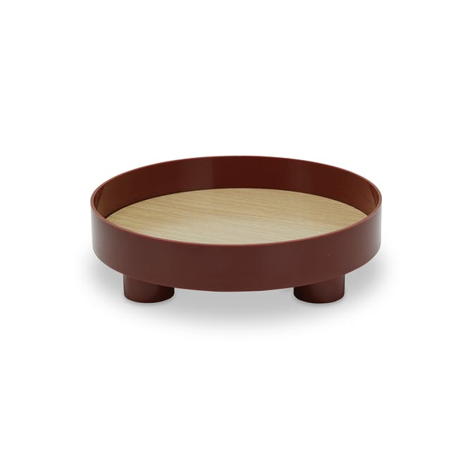 Edd Nordic Tray with Stand - Maroon - 0