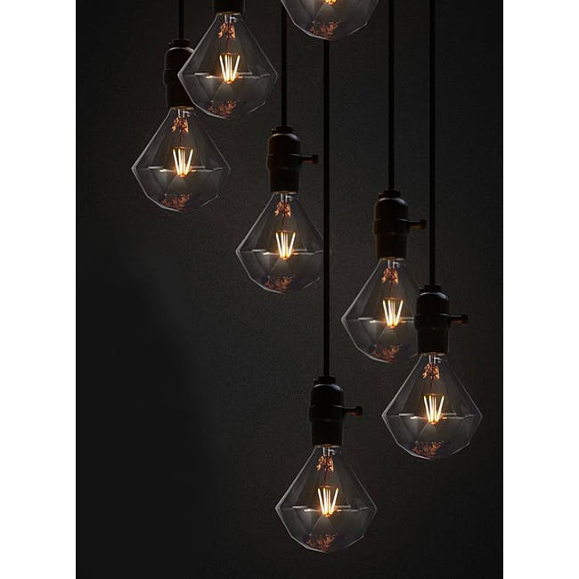 LED Diamond Edison Bulb - 3