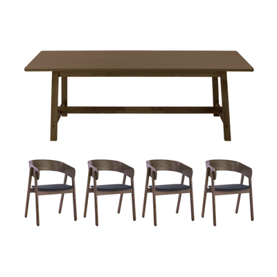 2a9962d34a93c ... 2 Haynes Dining Table 2.2m with 4 Venice Dining Chairs - Image 1