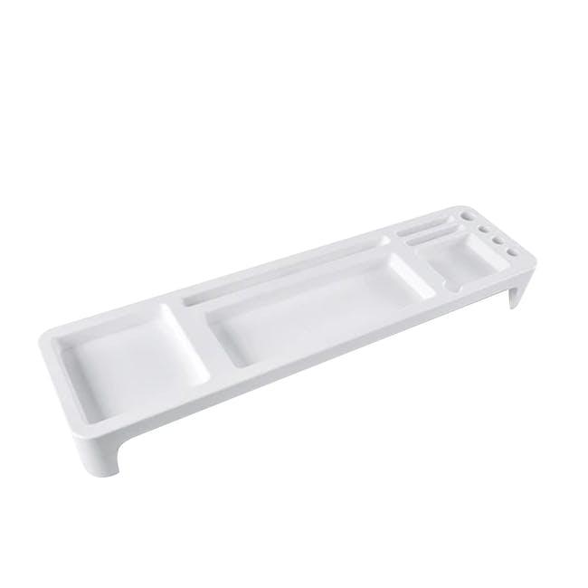 Krusty Open Top Keyboard Organiser - White - 0