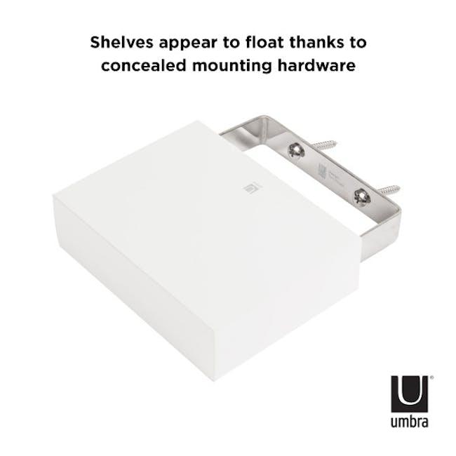 Showcase Floating Shelf - White (Set of 3) - 2