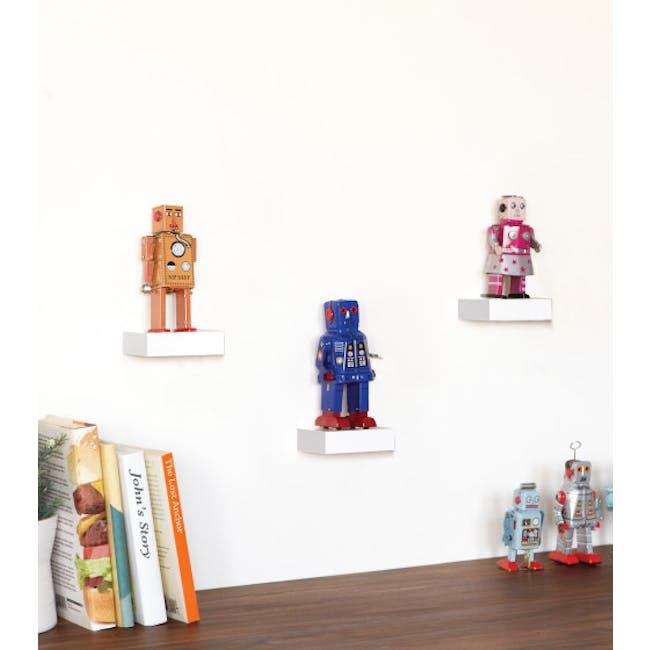 Showcase Floating Shelf - White (Set of 3) - 1