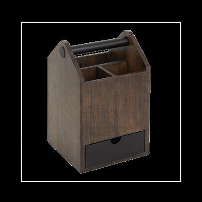 Toto Tall Box - Black, Walnut - Image 1
