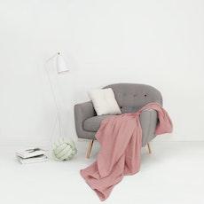 Leno Weave Cotton Throw - Blush