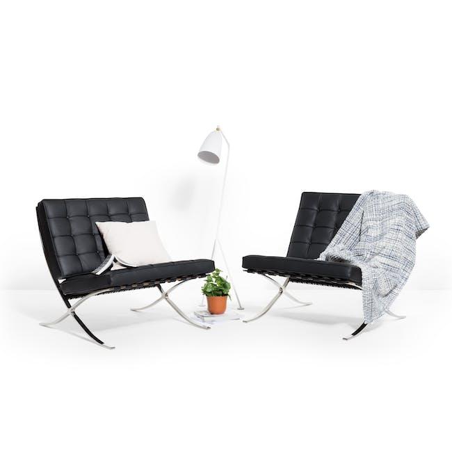 Barcelona Chair with Barcelona Ottoman - Black (Genuine Cowhide) - 8